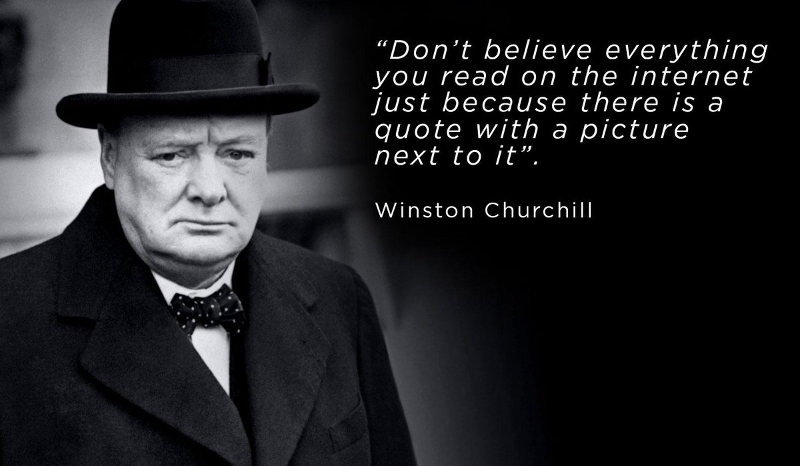 Appeal to False Authority - Churchill